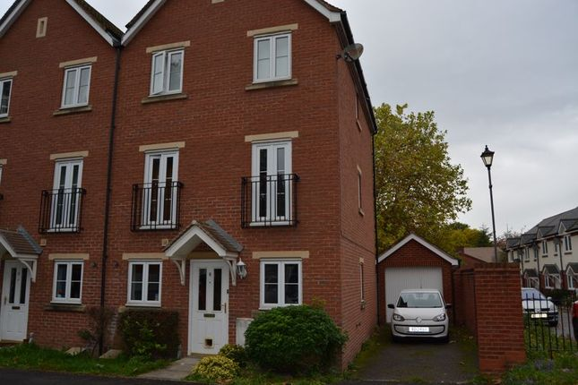 Thumbnail End terrace house to rent in Lister Close, St. Leonards, Exeter