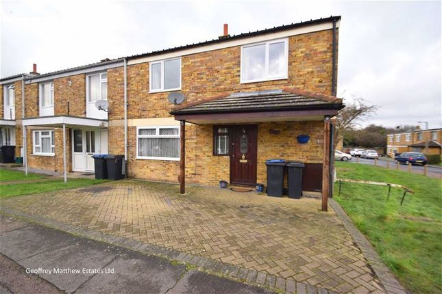 Thumbnail End terrace house for sale in Spinning Wheel Mead, Harlow, Essex