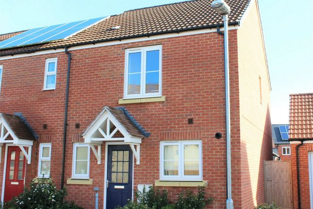 Thumbnail End terrace house to rent in Saffin Drive, Bathpool, Taunton