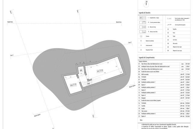 Plan Basement of Luz, Lagos, Portugal