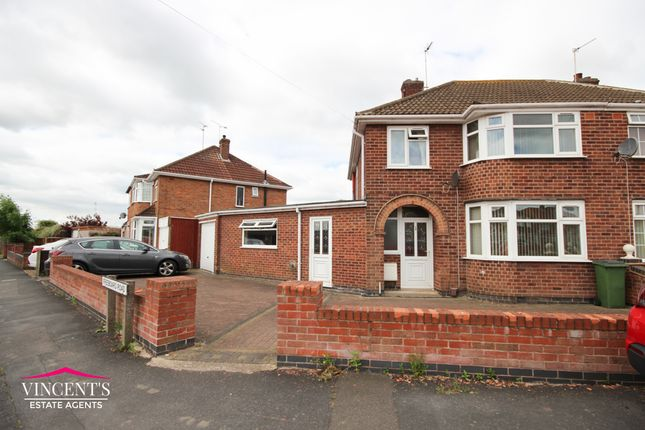Thumbnail Semi-detached house for sale in Freeboard Road, Braunstone Town, Leicester