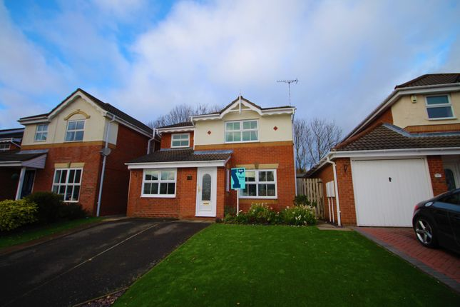 Thumbnail Detached house for sale in Leyburn Close, Church Gresley, Swadlincote