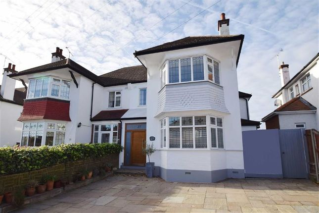 Thumbnail Semi-detached house for sale in Cottesmore Gardens, Leigh-On-Sea, Essex