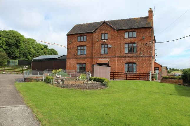 Thumbnail Farmhouse for sale in Bishton Farm, Bishton Lane, Wolseley Bridge, Stafford