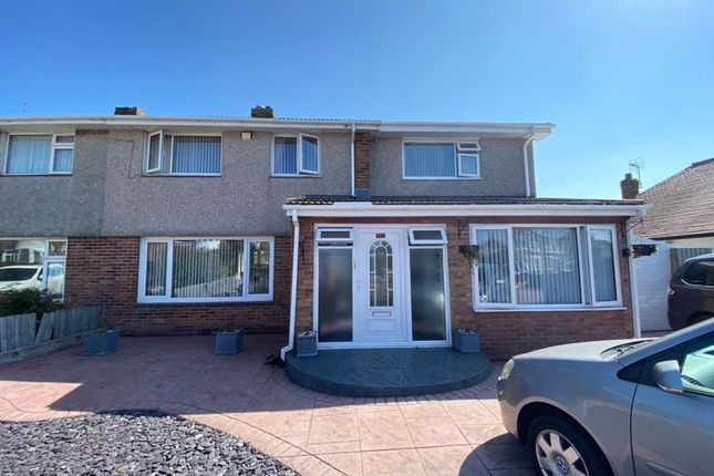 Thumbnail Semi-detached house for sale in Peterswell Road, Barry