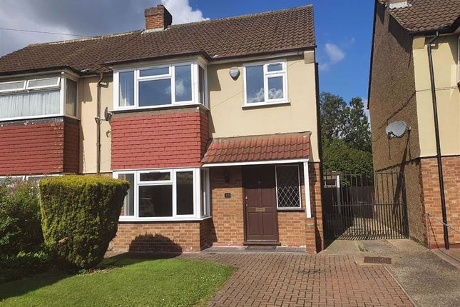 Thumbnail Semi-detached house to rent in Blossom Way, West Drayton, Middlesex