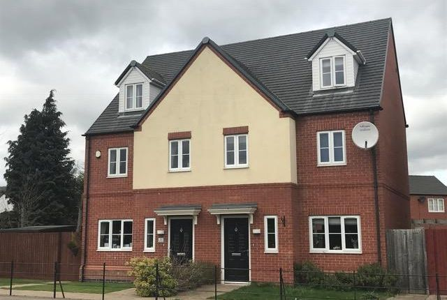 Thumbnail Semi-detached house to rent in Lockley Gardens, Sapcote, Leicester