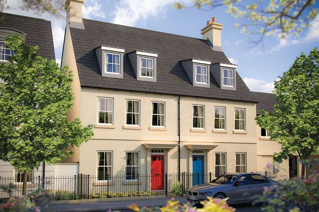 "Thumbnail Terraced house for sale in ""The Newton"" at Haye Road, Sherford, Plymouth"