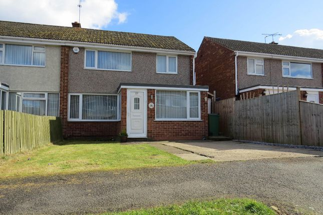 Thumbnail Semi-detached house for sale in Bignal Drive, Leicester Forest East, Leicester
