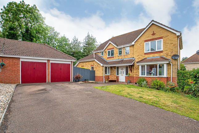 Thumbnail Detached house for sale in Fiske Close, Bury St. Edmunds