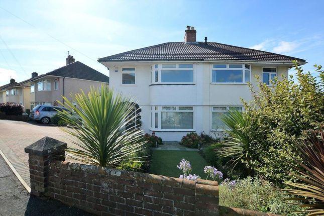 Thumbnail Semi-detached house for sale in Lynwood Avenue, Plymouth, Devon