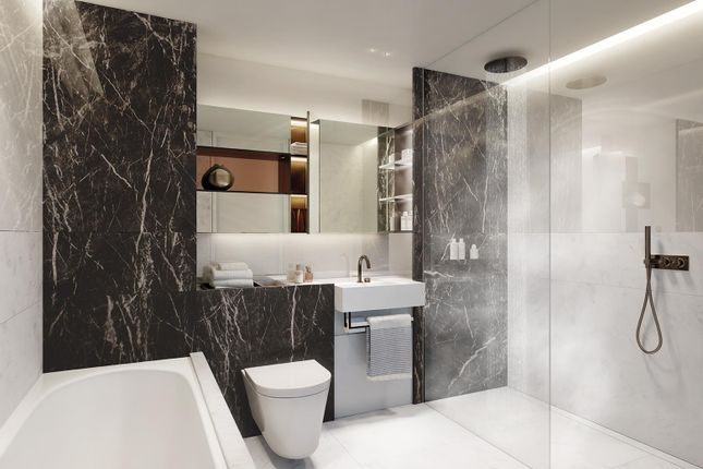 Bathroom CGI of Southbank Place, Belvedere Road, London SE1
