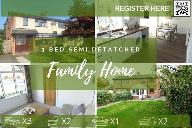 Thumbnail Semi-detached house to rent in Howard Road, Culcheth, Warrington, Cheshire