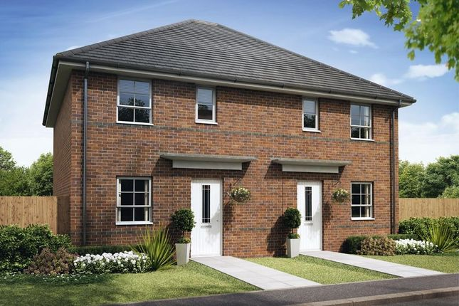 """Thumbnail Semi-detached house for sale in """"Folkestone"""" at Ruston Road, Burntwood"""