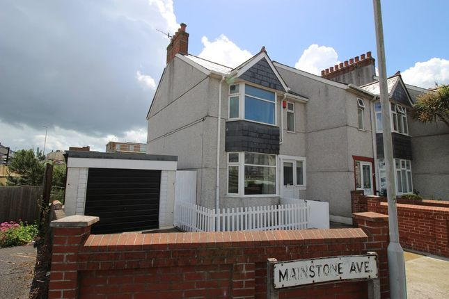 Thumbnail End terrace house for sale in Mainstone Avenue, Plymouth