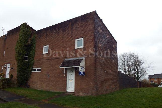 Thumbnail End terrace house to rent in Berthin, Greenmeadow, Cwmbran, Torfaen.