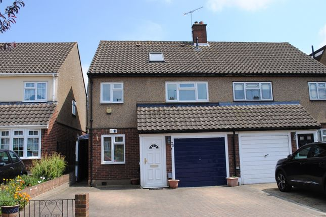 Thumbnail Semi-detached house for sale in Tabrums Way, Cranham, Upminster