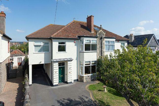 Thumbnail Semi-detached house for sale in Brean Down Avenue, Weston-Super-Mare