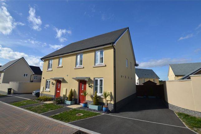 Thumbnail Semi-detached house for sale in Capra Close, Newton Abbot, Devon
