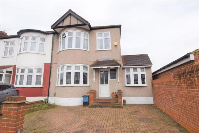 Thumbnail End terrace house for sale in Reynolds Avenue, Chadwell Heath, Romford