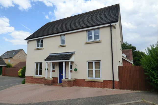 Thumbnail Detached house for sale in Red Robin Close, Tharston, Norwich