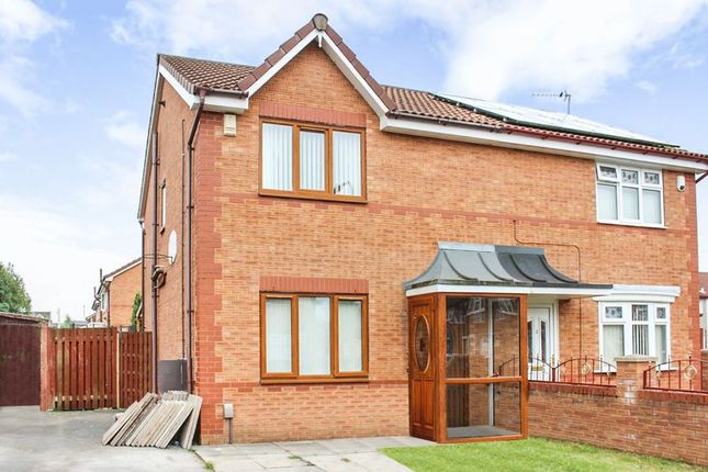 Thumbnail Semi-detached house for sale in Middleham Close, Kirkby, Liverpool