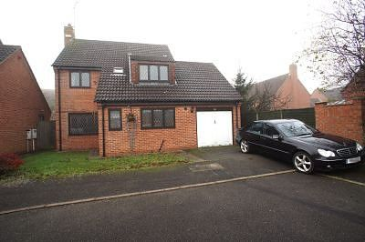 Thumbnail 4 bed detached house to rent in Station Road, Chellaston, Derby