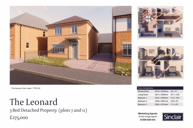 Thumbnail Detached house for sale in The Heavens - Porrit Close, East Leake, Leicestershire