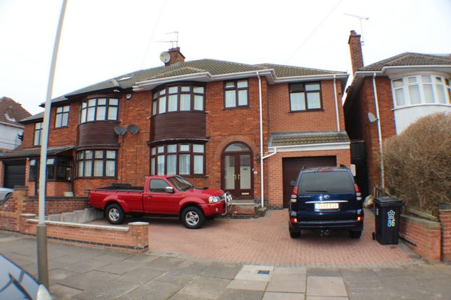 Thumbnail Semi-detached house for sale in Romway Road, Leicester