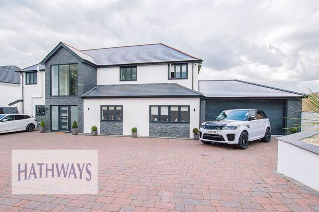 Thumbnail Detached house for sale in Sluvad Road, New Inn, Pontypool