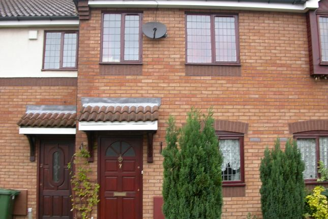 Thumbnail 2 bedroom town house to rent in Turner Close, Cannock