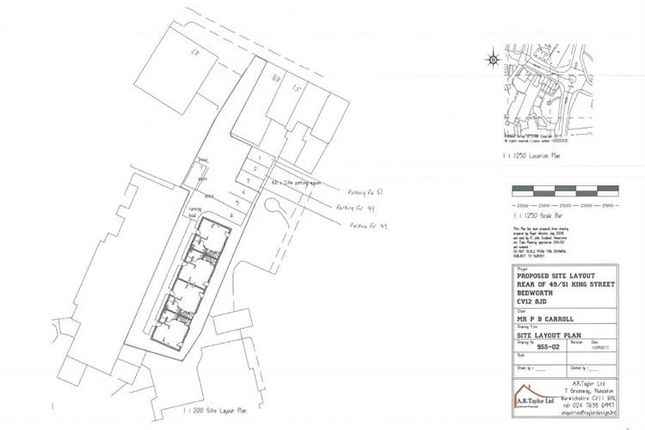 Thumbnail Land for sale in King Street, R/O 49-51, Bedworth, Warwickshire