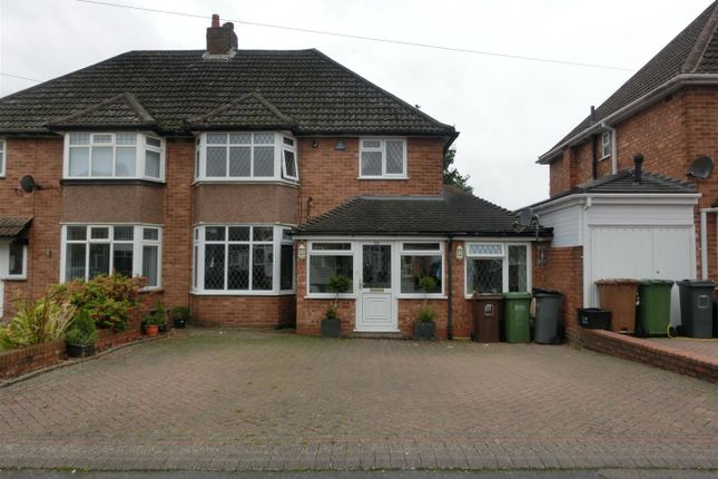 Thumbnail 4 bed semi-detached house for sale in Blandford Avenue, Castle Bromwich, Birmingham