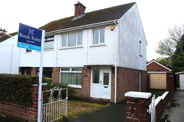 Thumbnail Semi-detached house to rent in Ballyregan Crescent, Dundonald, Belfast