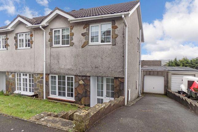 Thumbnail Semi-detached house for sale in Ty Gwyn Drive, Brackla, Bridgend .