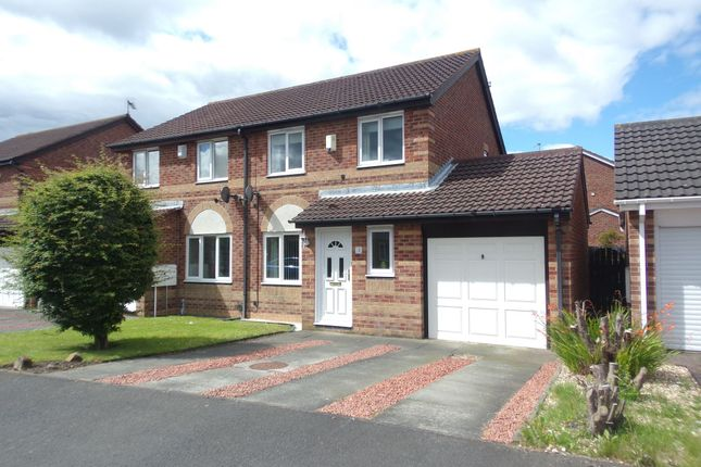 Thumbnail Semi-detached house for sale in Boulmer Avenue, Cramlington