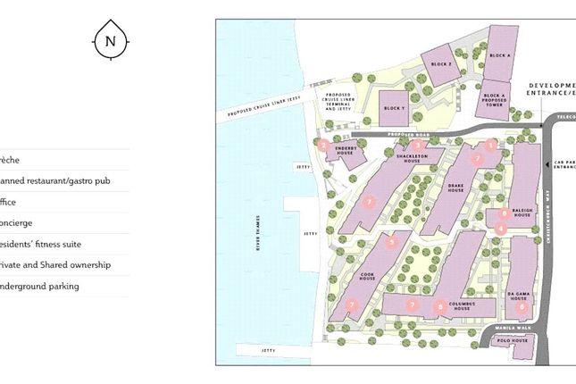 Siteplan of Enderby Wharf, Telcon Way, Greenwich, London SE10