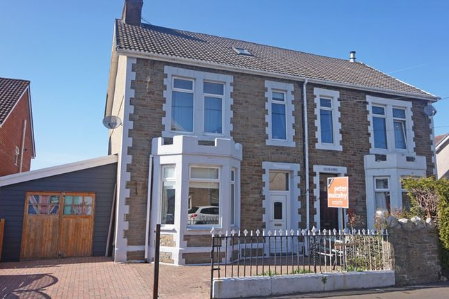 Thumbnail Semi-detached house for sale in North Avenue, Maesycwmmer, Hengoed