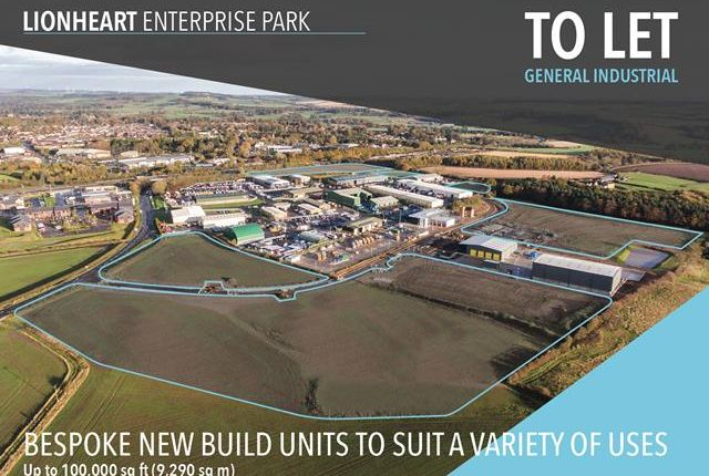 Light industrial to let in Lionheart Enterprise Park, Alnwick, Northumberland