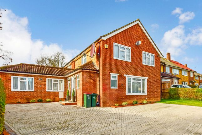 Thumbnail Detached house for sale in Lambourne Close, Crawley