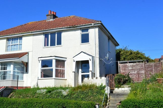 Thumbnail Semi-detached house for sale in Weston Park Road, Plymouth, Devon