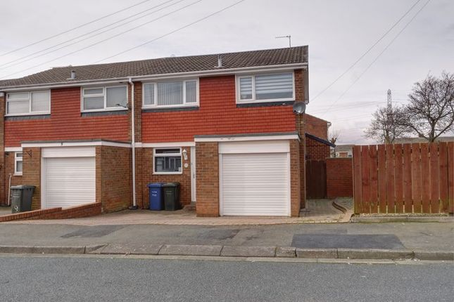 Thumbnail End terrace house for sale in Dorchester Close, Chapel Park, Newcastle Upon Tyne