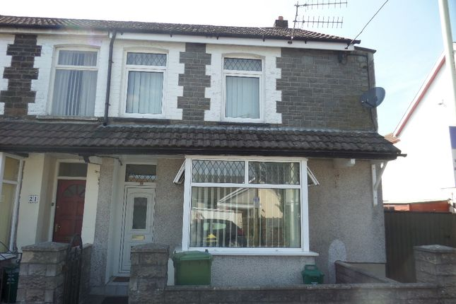 Thumbnail End terrace house to rent in New Park Terrace, Treforest, Pontypridd