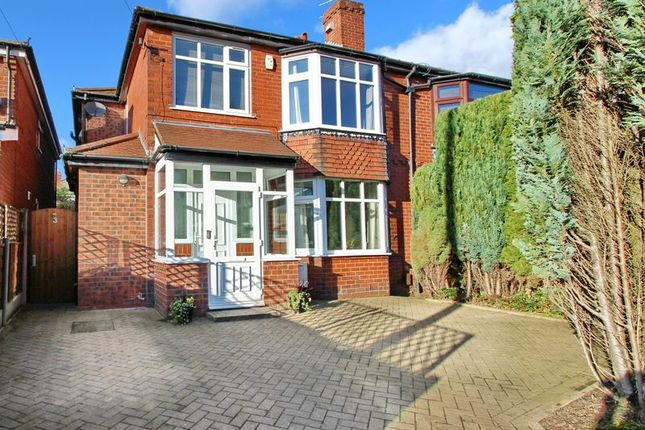 Thumbnail Semi-detached house for sale in Stand Avenue, Whitefield, Manchester