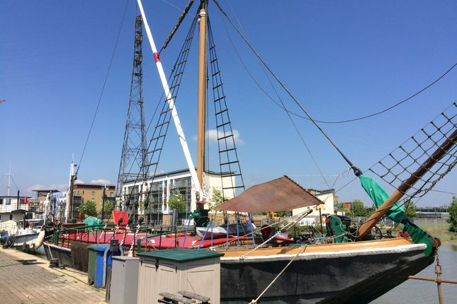 Thumbnail Houseboat for sale in King Edward Quay, The Hythe, Colchester