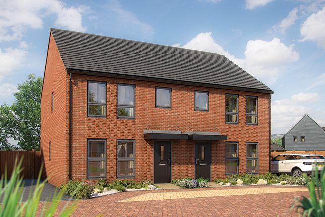"Thumbnail Semi-detached house for sale in ""The Hazel"" at Wavendon, Milton Keynes"