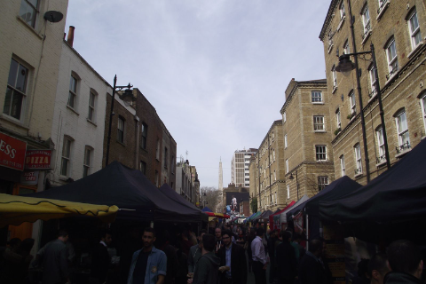 Thumbnail Flat to rent in Whitecross Street, London