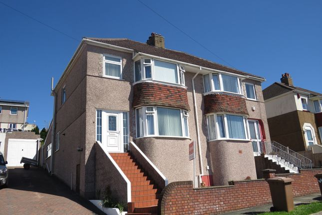 Thumbnail Semi-detached house for sale in Darwin Crescent, Laira, Plymouth