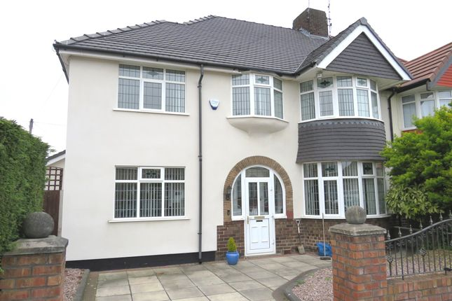 Thumbnail Semi-detached house for sale in Storrsdale Road, Mossley Hill, Liverpool