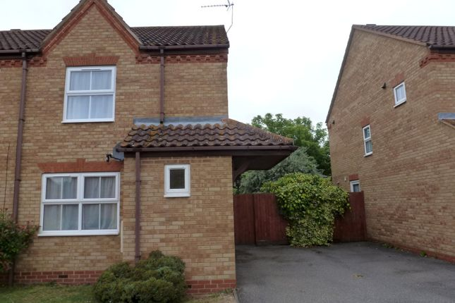 Thumbnail Semi-detached house to rent in Deighton Close, St. Ives, Huntingdon